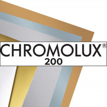 CHROMOLUX 200, couché sur chrome 1 face recto blanc ultra brillant, 250g, 65x92, FSC®, paq. 100f